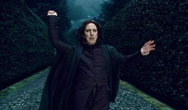 The treacherous Professor Snape...in Part 1 of HARRY POTTER AND THE DEATHLY HALLOWS.