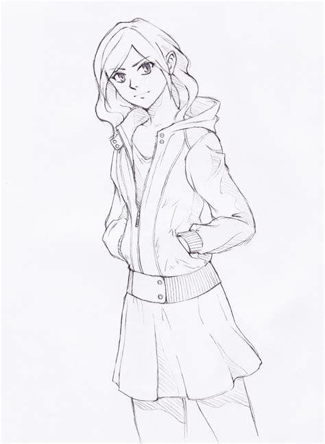 jacket girl  iriak  deviantart