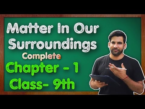 C - 1, Matter In Our Surroundings NCERT Solution