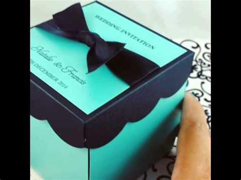 DIY KIT Wedding Exploding Box Invitations w/ Cake   YouTube