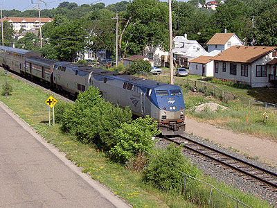 Amtrak Empire Builder departs for Winona and Chicago.