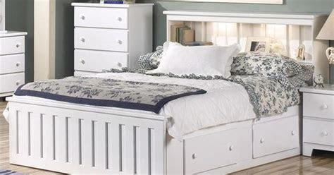 shaker queen captain bookcase bed  white nebraska
