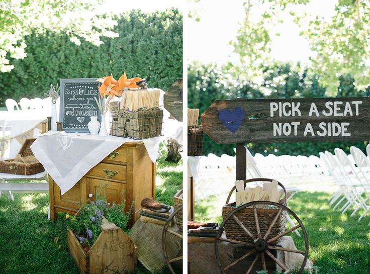 DIY Backyard BBQ Wedding Ceremony