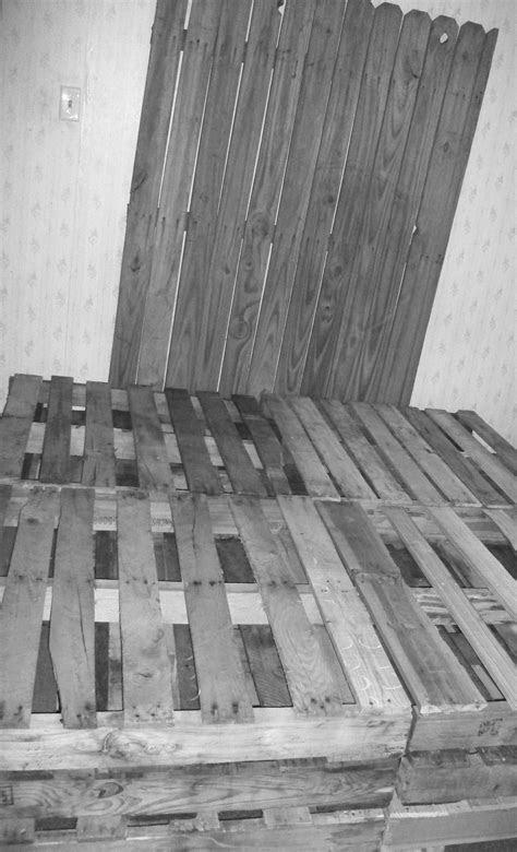 BEFORE... Diy pallet box spring and fence headboard