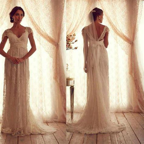 Discount Vintage Wedding Dresses Sheer Strap Wedding Gown