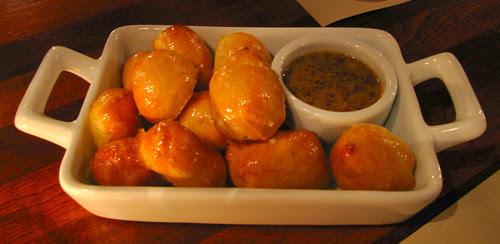 honey mustard pretzel puffs