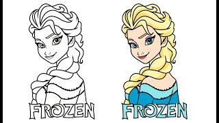 All Clip Of Menggambar Dan Mewarnai Frozen Bhclipcom
