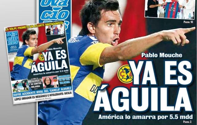 Pablo Mouche acordó su incorporación a América de México