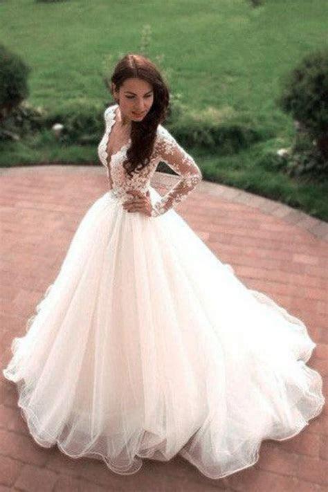 Vintage Boho Summer Wedding Dresses Princess Tulle Lace