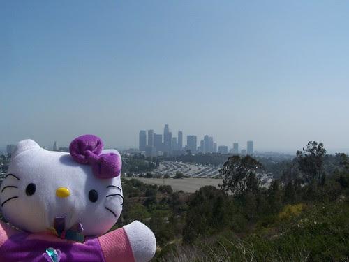 downtown skyline from Elysian Park