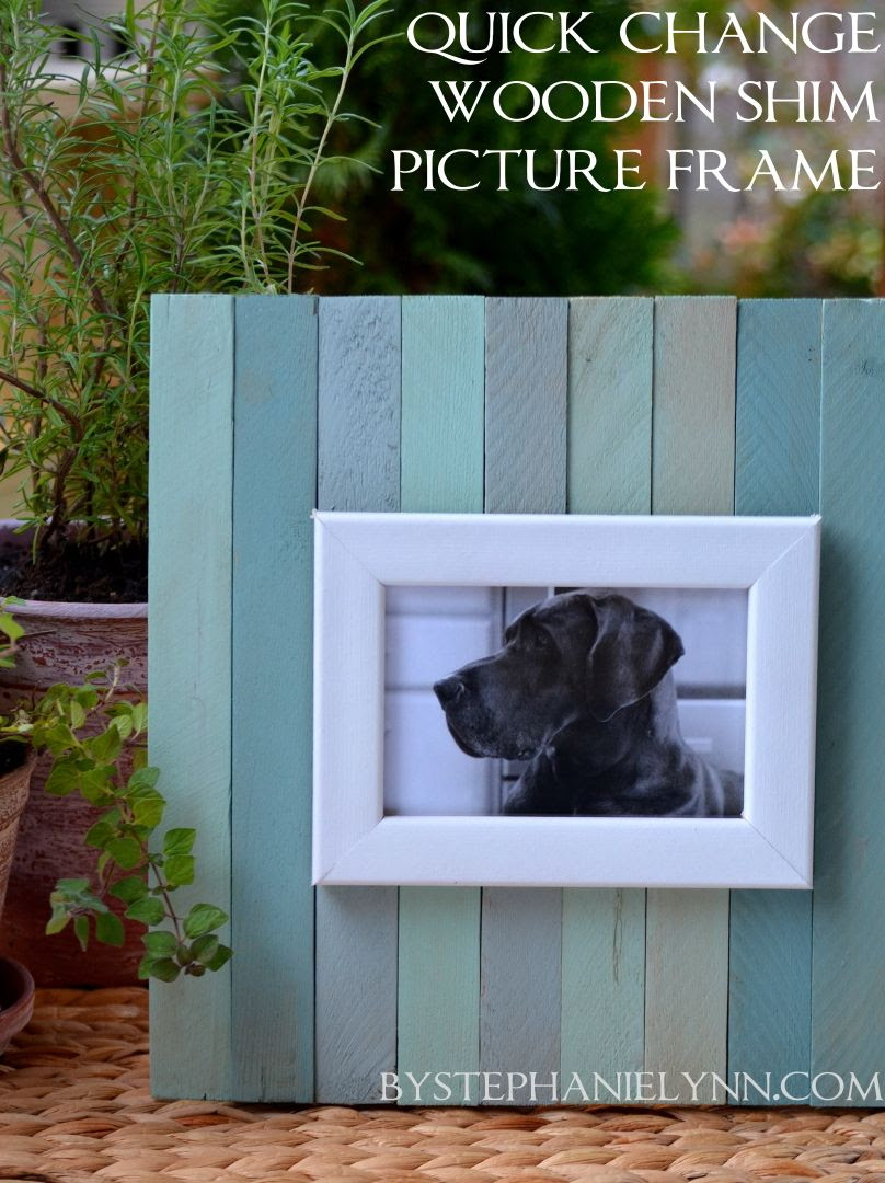 Make Your Own Quick Change Wooden Shim Picture Frame Bystephanielynn