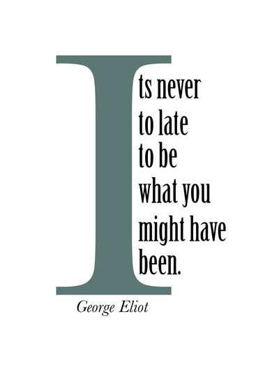 Its Never Too Late To Be What You Might Have Been Quote Picture