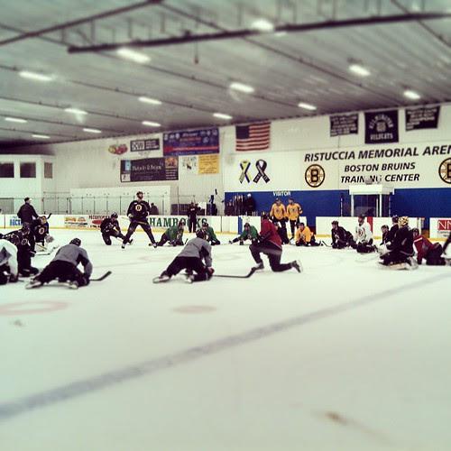 Bruins practice #bruins #becauseitsthecup
