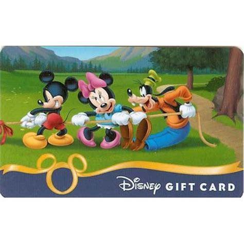Disney Collectible Gift Card   Tug of War Mickey Minnie Goofy
