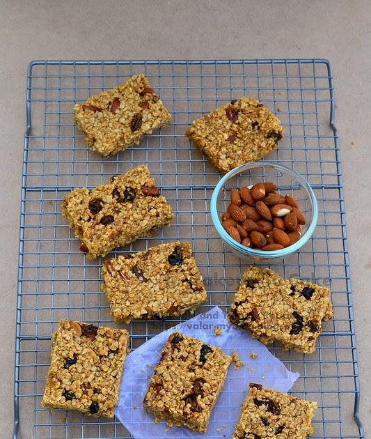 Oats Bar Recipe | Granola Bars | Healthy Homemade Granola Bars | Simple And Yummy Recipes