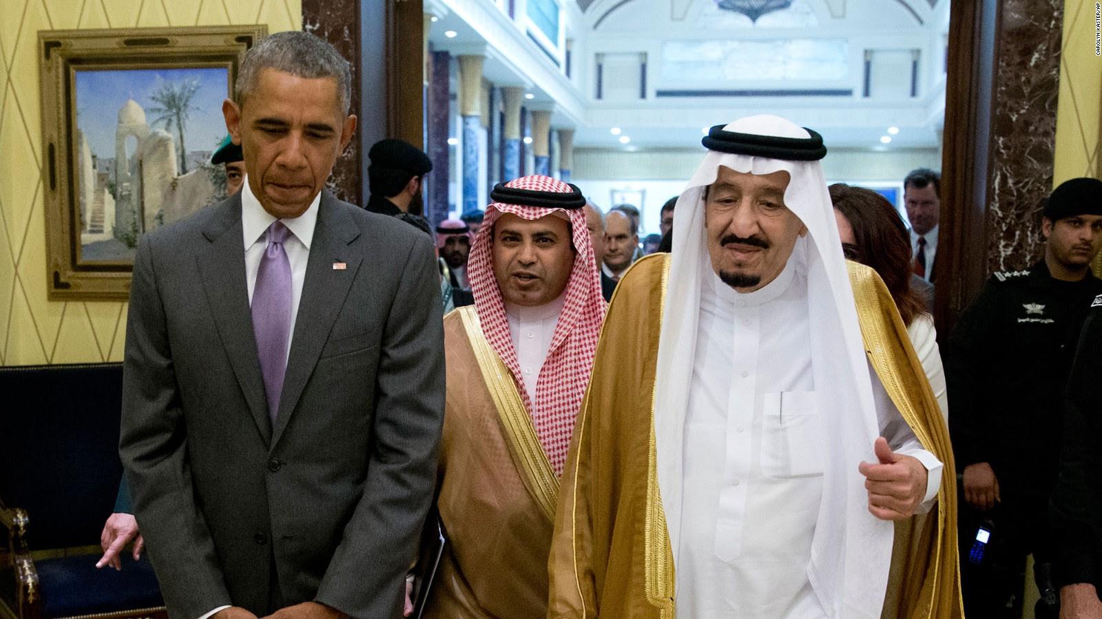 Risultati immagini per obama saudi