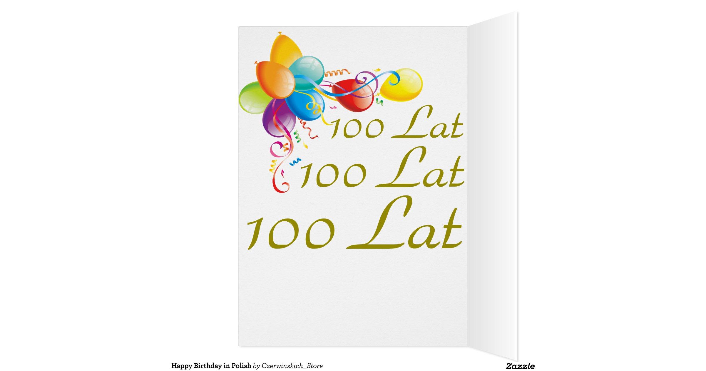 Happy Birthday In Polish