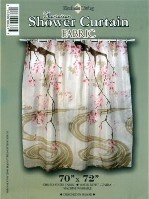 Hawaiian Tropical Fabric Shower Curtain (Sakura Flower)