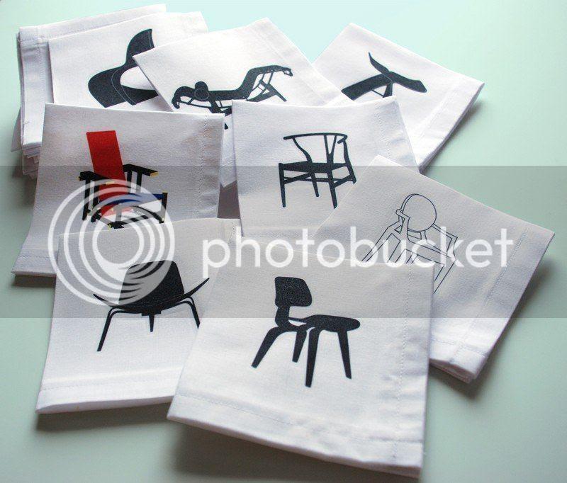 Designer Chairs Cocktail Napkins Set