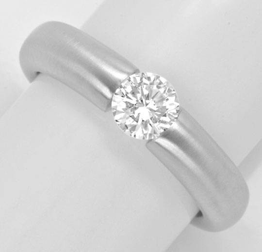 Originalfoto DIAMANT-SPANNRING 0,60ct BRILLANT, 18K WEISSGOLD LUXUS!