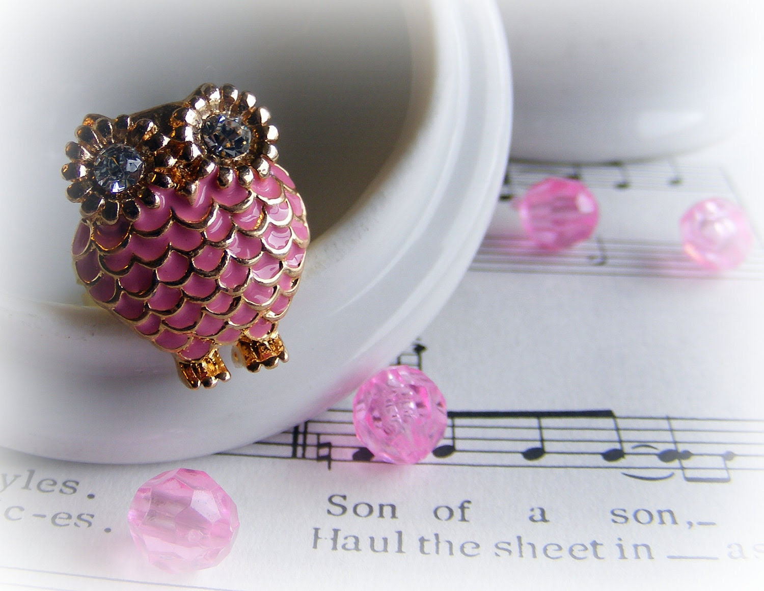 Ring Pretty Pink Owl