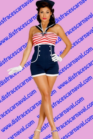 Marinera Pin Up Disfraces Carnaval