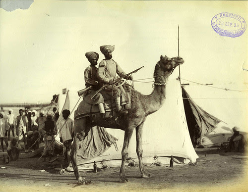Photograph Camel Corps Sihks Felice Beato 1884/5