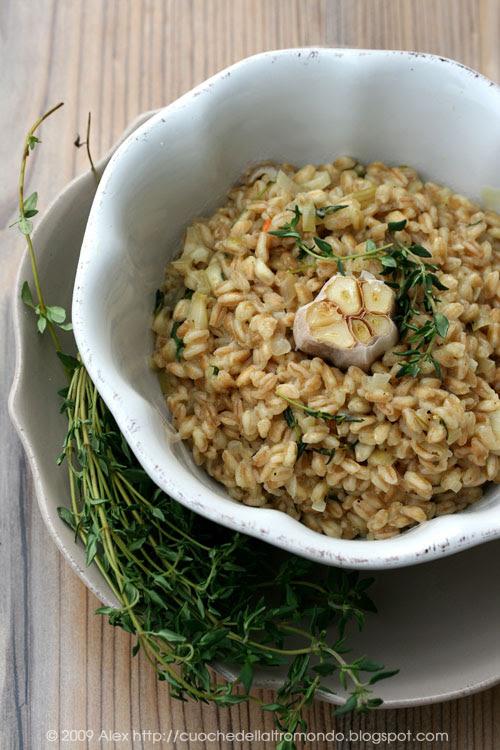 Orzotto aglio e timo