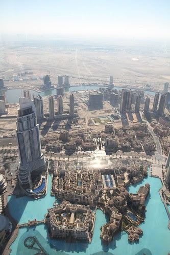 View of Dubai from the top