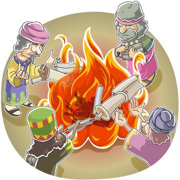 Sorcery scrolls burnt