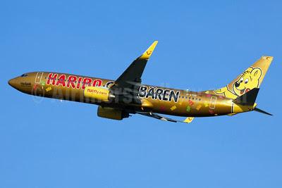 TUIfly (TUIfly.com) Boeing 737-8K5 WL D-ATUD (msn 34585) (Haribo Goldbaren) FRA (Ole Simon). Image: 912341.