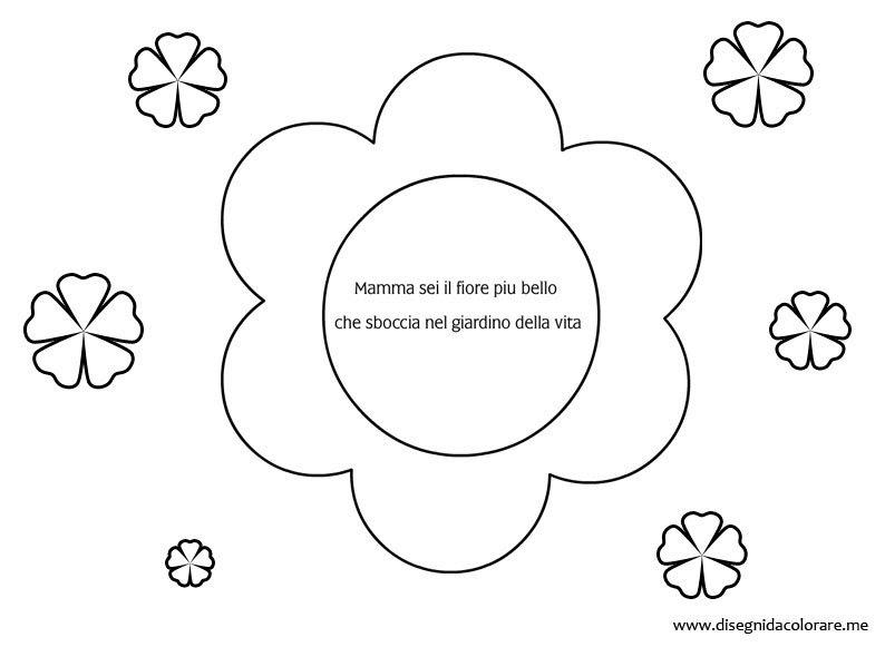 Dedica Per La Festa Della Mamma Disegni Da Colorare