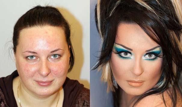 Γυναίκες με / χωρίς μακιγιάζ (17)