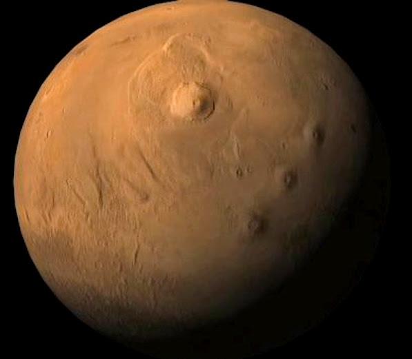 Monte Olympus em Marte
