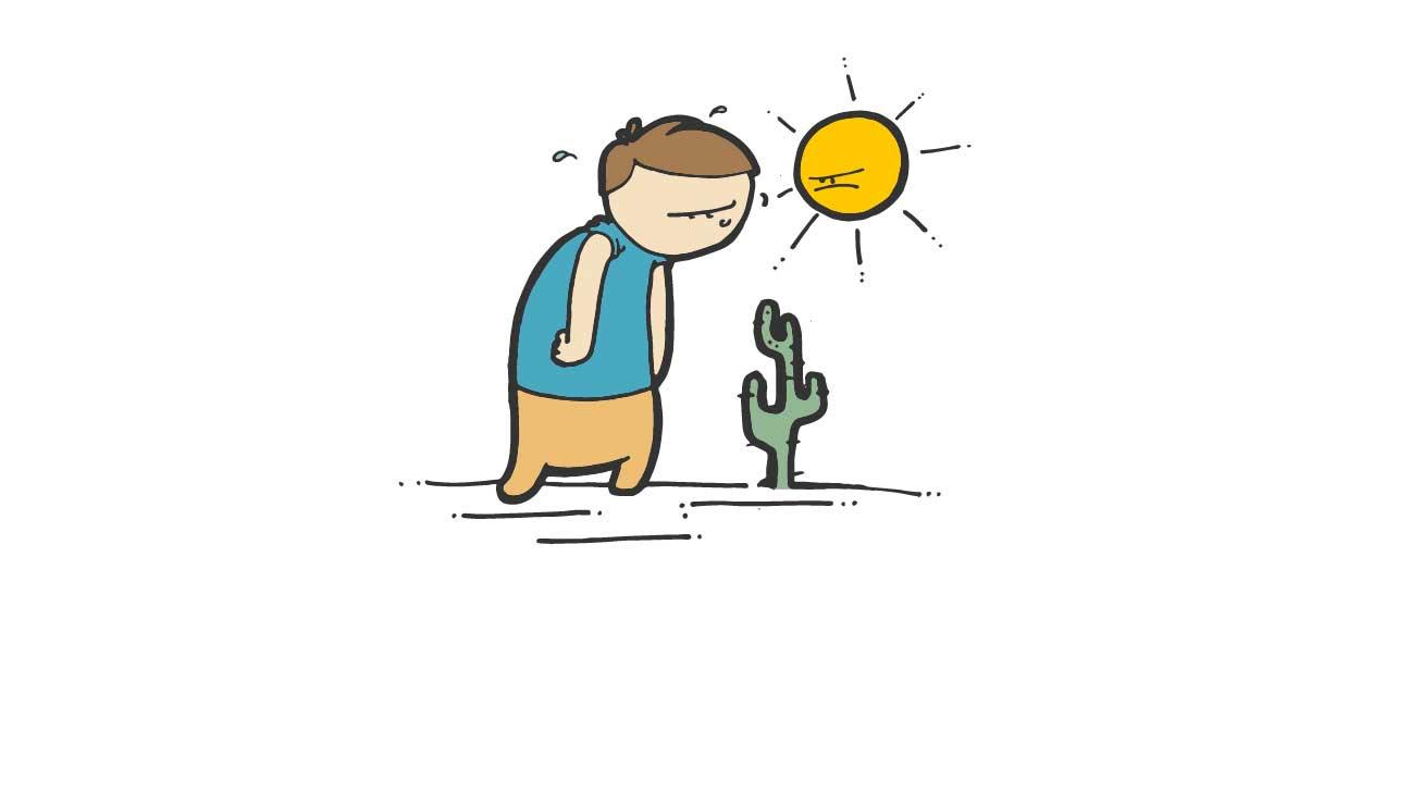beware of sun exposure