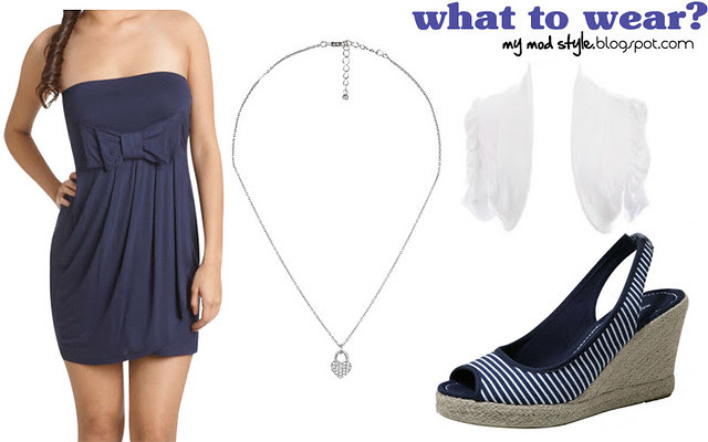 what to wear navy white sandals