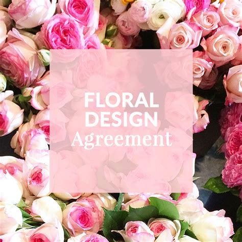 Floral Design Template Contract; Wedding; Florist; Flower