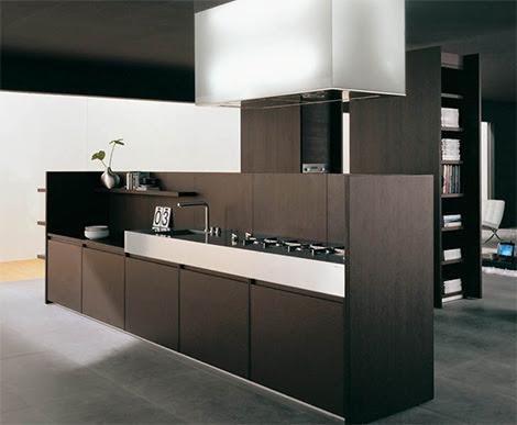 Iconic Kitchen Design by Binova - Modus kitchen combines dark wood ...
