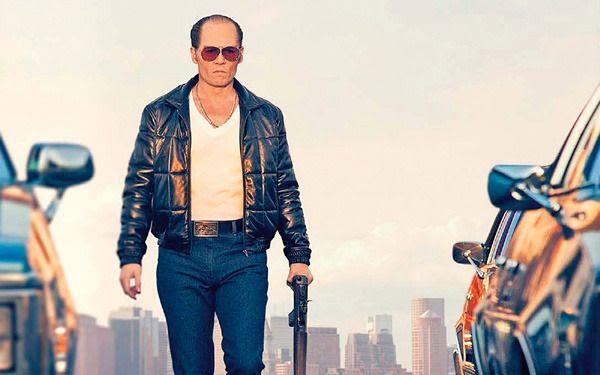 Johnny Depp as Boston crime boss James 'Whitey' Bulger in BLACK MASS.