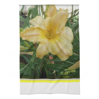 Stella d'oro Yellow Lily Kitchen Towel