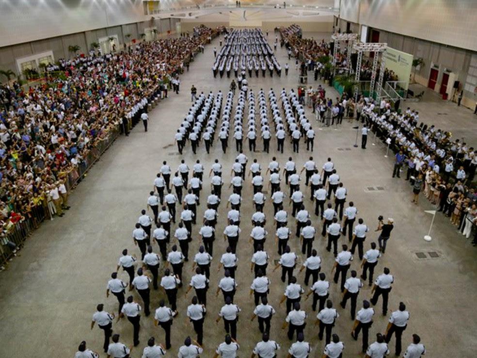 1.400 aprovados no concurso da PM já foram convocados para a próxima fase do concurso (Foto: Governo do Estado/Divulgação)