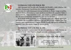 Lettera prete, 'vi prego votate Pd'