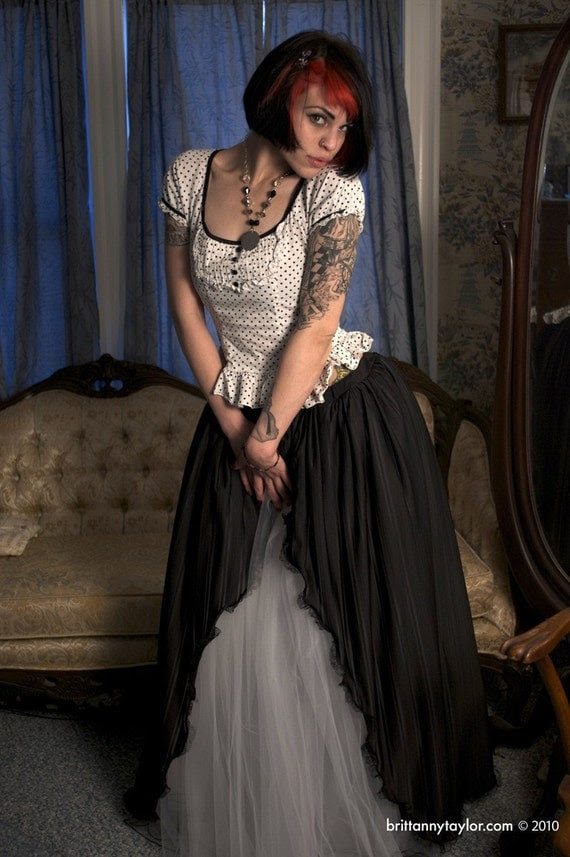 Victorian Gothic Beauty Ball gown prom skirt - Small- Ready to ship