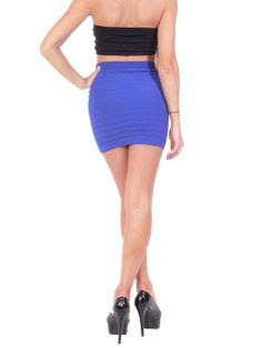 Bandage Style Mini Skirt Knit Stretch Fabric One Size (One Size, Aqua) at Amazon Women's Clothing store
