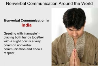 Nonverbal communication in Indian culture [Communication]