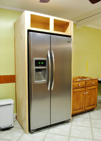 How To Build In Your Fridge With A Cabinet On Top   Young ...