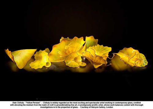 "Dale Chihuly - ""Yellow Persian"" by artimageslibrary"