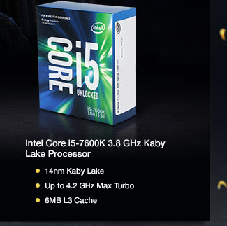 Intel Core i5-7600K 3.8 GHz Kaby Lake Processor