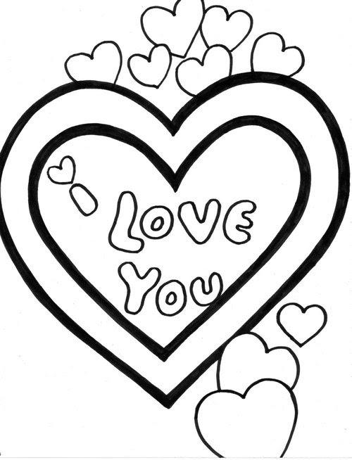 83 Dessins De Coloriage I Love You à Imprimer Sur Laguerchecom Page 9