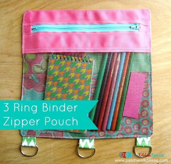 Binder Zipper Pouch - The Ribbon Retreat Blog